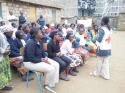 A community NCD sensitization session in Huruma
